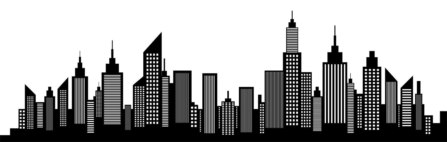 Silhouette of a big city skyline