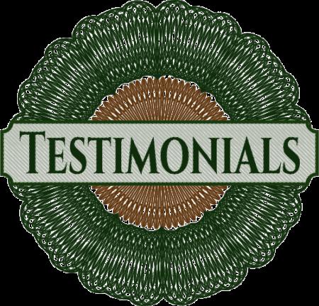 Testimonial seal